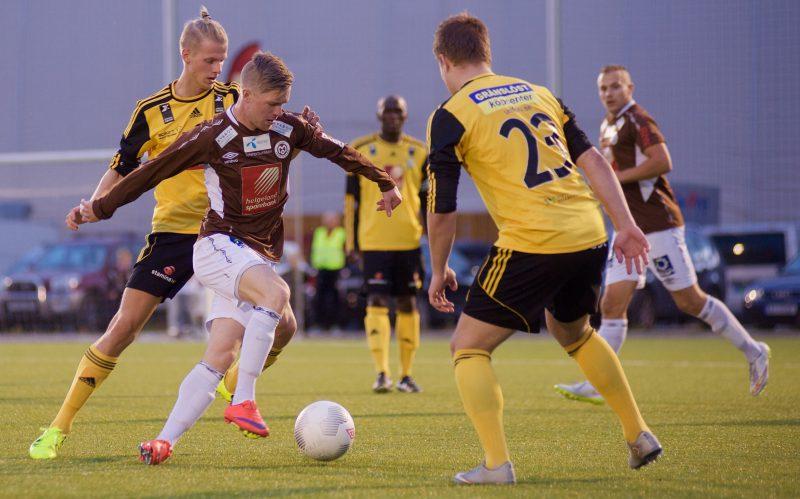 Remi Jakobsen, her under kamp mot Stålkam i fjor, scoret to mål sist helg. Kan han følge opp borte mot Skeid?