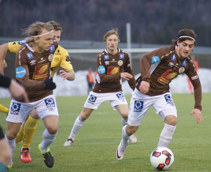 Sondre Halland scoret det første målet, da Mo ILs reservelag slo Åga IL i går kveld.