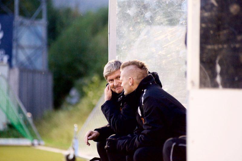 Trenerduoen Thor André Olsen og Rainer Bergersen er også med som spillere i troppen til bortekampen mot Kjelsås.